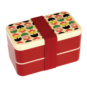 Dvojposchodový obedový box s príborom Rex London Tulip Bloom