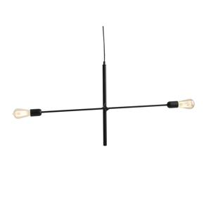 Čierne závesné svietidlo na 2 žiarovky Custom Form Twigo