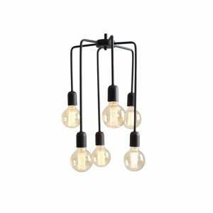Čierne závesné svietidlo na 6 žiaroviek Custom Form Vanwerk Tall