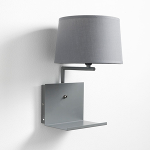 Sivá nástenná lampa Tomasucci Nio