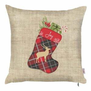 Vianočná obliečka na vankúš Apolena Honey Festive, 43×43 cm