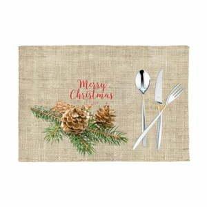 Sada 2 vianočných prestieraní Apolena Honey Merry, 33×45 cm