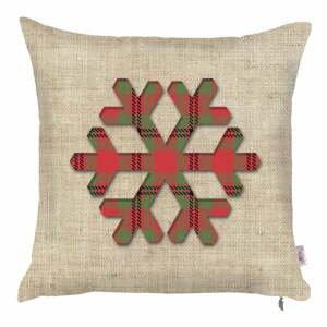 Vianočná obliečka na vankúš Apolena Honey Snowy, 43×43 cm