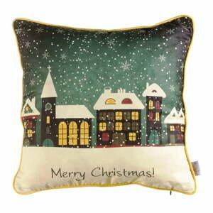 Vianočná obliečka na vankúš Apolena Comfort Snowy, 43×43 cm