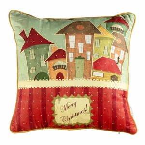 Vianočná obliečka na vankúš Apolena Comfort Houses, 43×43 cm