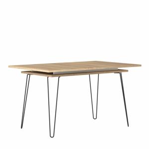 Svetlohnedý rozkladací jedálenský stôl TemaHome Aero