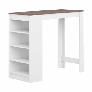 Biely barový stôl s hnedou doskou TemaHome Aravis