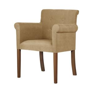 Béžová stolička s tmavohnedými nohami Ted Lapidus Maison Flacon
