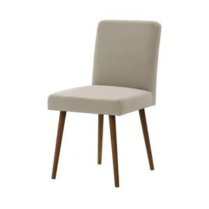 Béžová stolička s tmavohnedými nohami Ted Lapidus Maison Fragrance