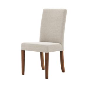 Krémová stolička s tmavohnedými nohami Ted Lapidus Maison Tonka