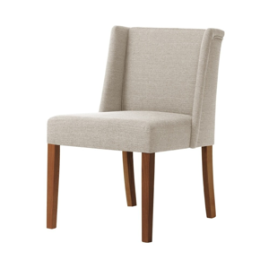 Krémovobiela stolička s tmavohnedými nohami Ted Lapidus Maison Zeste