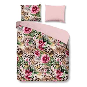 Obliečky na jednolôžko z bavlny Good Morning Premento Rose, 140×200 cm