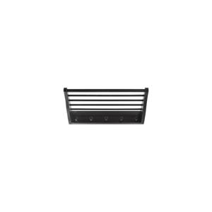 Čierny nástenný vešiak s policou z brezového dreva RGE Fame