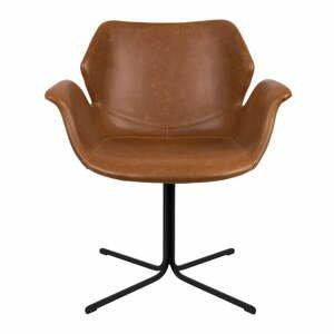 Sada 2 hnedých stoličiek s opierkami Zuiver Nikki