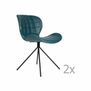 Sada 2 modrých stoličiek Zuiver OMG LL