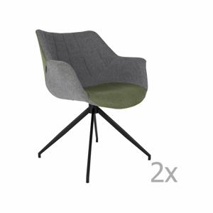 Sada 2 sivo-zelených stoličiek Zuiver Doulton