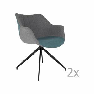 Sada 2 sivo-modrých stoličiek Zuiver Doulton