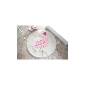 Kúpeľňová predložka Pink Flamingo, Ø90cm