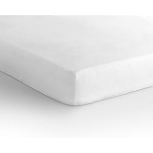 Biela elastická plachta Sleeptime Molton,160x200/220cm