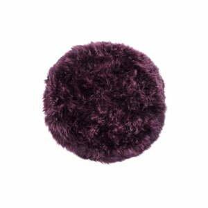 Tmavovínový koberec z ovčej kožušiny Royal Dream Zealand, Ø70 cm