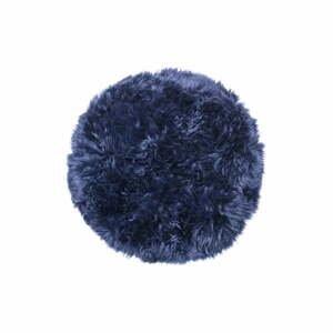 Tmavomodrý koberec z ovčej kožušiny Royal Dream Zealand, ⌀ 70cm