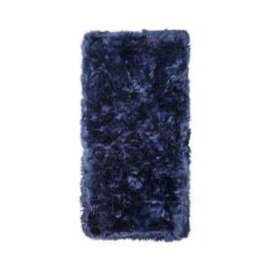 Tmavomodrý koberec z ovčej kožušiny Royal Dream Zealand, 140×70 cm