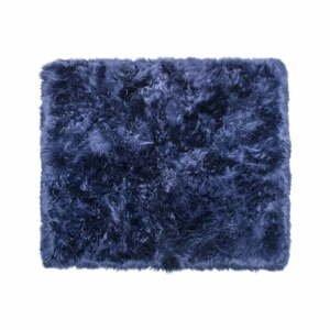 Tmavomodrý koberec z ovčej kožušiny Royal Dream Zealand, 130×150 cm