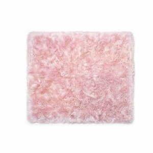 Ružový koberec z ovčej kožušiny Royal Dream Zealand, 130×150 cm