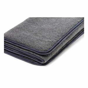 Sivá deka z merino vlny Royal Dream, 140×200 cm
