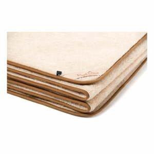 Hnedo-béžová deka z ťavej vlny Royal Dream Cappucino, 220×200 cm