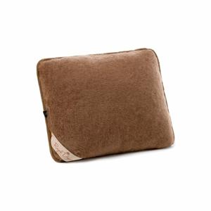 Hnedý vankúš z ťavej vlny Royal Dream Cappucino and Chocolate, 50×60 cm