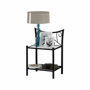 Čierny nočný stolík Støraa Isabelle