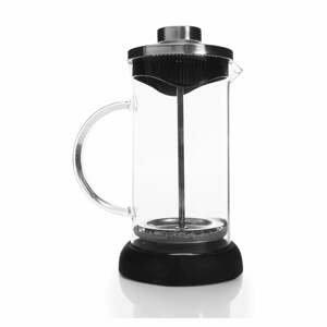Čierny French press na prípravu kávy, 350 ml
