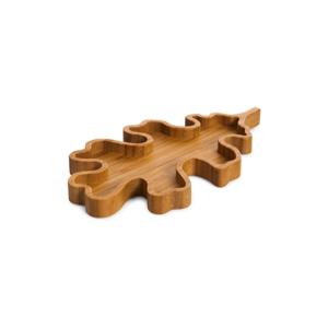 Servírovací podnos v tvare listu Bambum Mesa, ⌀ 22 cm
