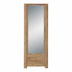 Zrkadlová šatníková skriňa v dekore dubového dreva Germania Castera
