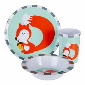 3-dielny detský jedálenský set Premier Housewares Mimo Susie Squirrel