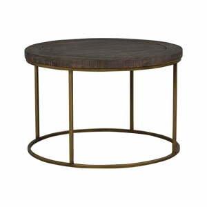 Hnedý drevený konferenčný stolík Rowico Lato