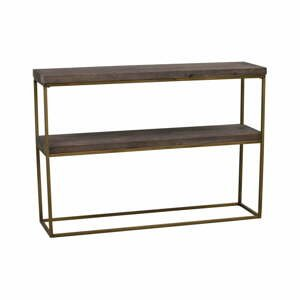Čierny drevený konzolový stolík Rowico Brogge