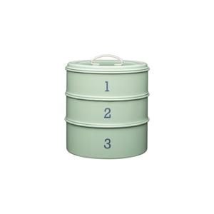 3-dielna plechová dóza v zelenej farbe Kitchen Craft Nostalgia