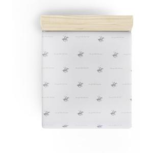 Neelastická plachta na jednolôžko s tmavomodrými detailmi Beverly Hills Polo Club Clancy, 180×240cm