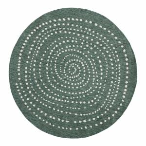 Zelený okrúhly obojstranný vonkajší koberec Bougari Bali, Ø 140 cm