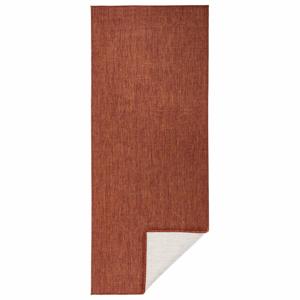 Tehlovočervený vonkajší koberec Bougari Miami, 80 x 350 cm