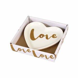 Ozdobný porcelánový tanierik Rex London Love Heart