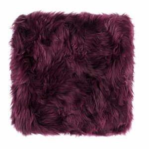 Fialový sedák z ovčej kožušiny na jedálenskú stoličku Royal Dream, 40 × 40 cm