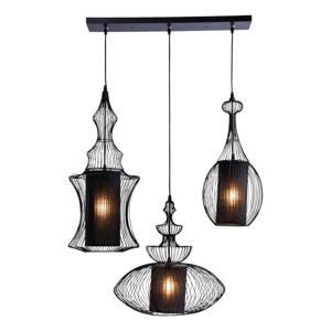 Čierne stropné svietidlo Kare Design Swing Iron Tre