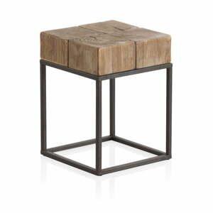 Drevená stolička s kovovými nohami Geese Robust, 33 x 33 cm
