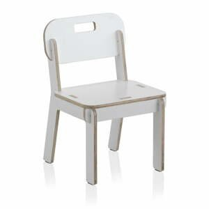 Biela detská stolička z preglejky Geese Piper