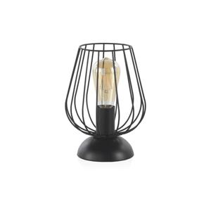 Čierna kovová stolová lampa Geese, výška 26 cm