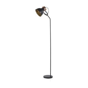 Čierna stojacia lampa Geese, výška 1,5 m