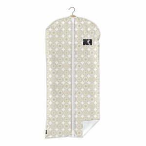 Béžový obal na oblek Domopak Ella, dĺžka135cm